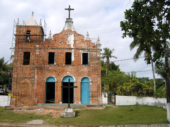 Igreja em reforma de Morro de São Paulo Bahia