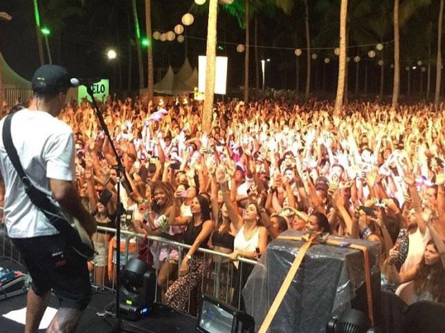show em Morro de São Paulo Bahia