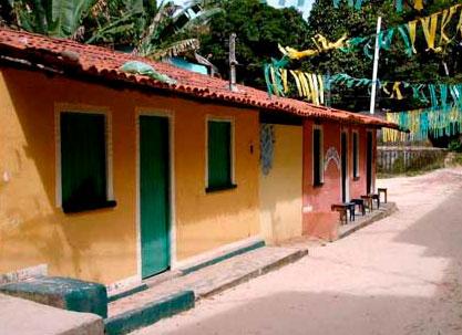 casas da vila de Morro de São Paulo Bahia
