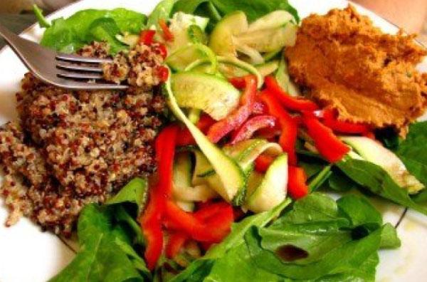 prato de comida vegetariana