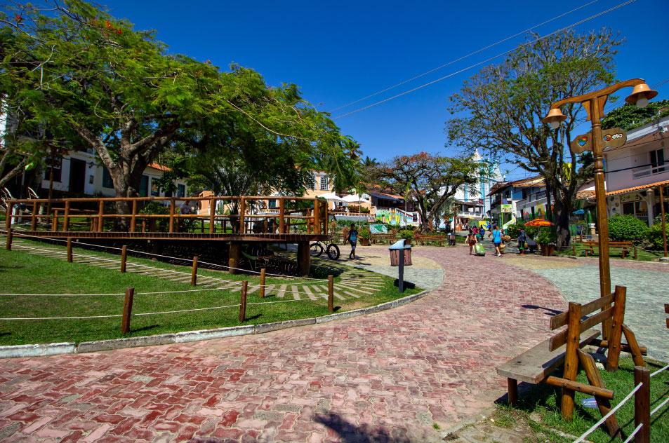praça Morro de São Paulo Bahia